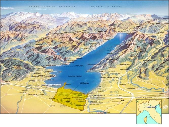 Map Lugana