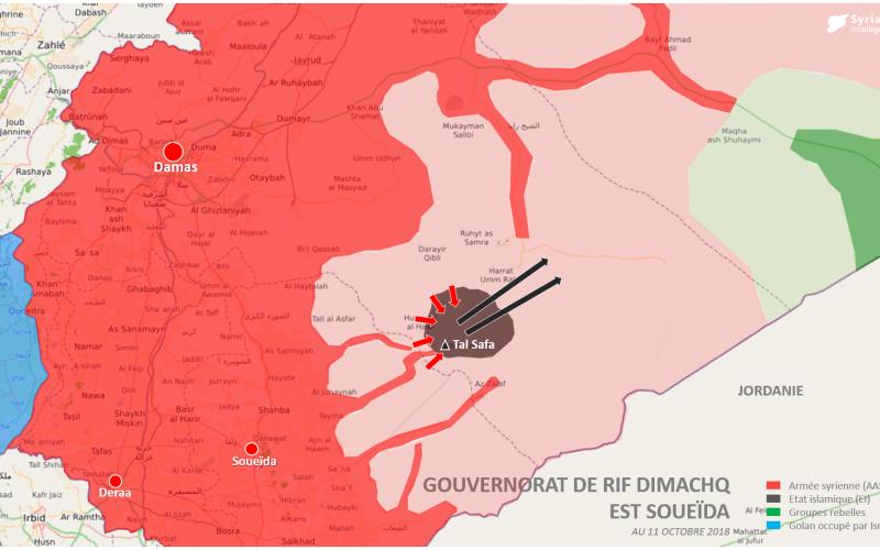 Après plus de deux mois de combat, l'armée syrienne #AAS a réussi à chasser l'#EI des massifs volcaniques de #Safa (province de Rif Dimachq, à l'est de #Soueïda).
