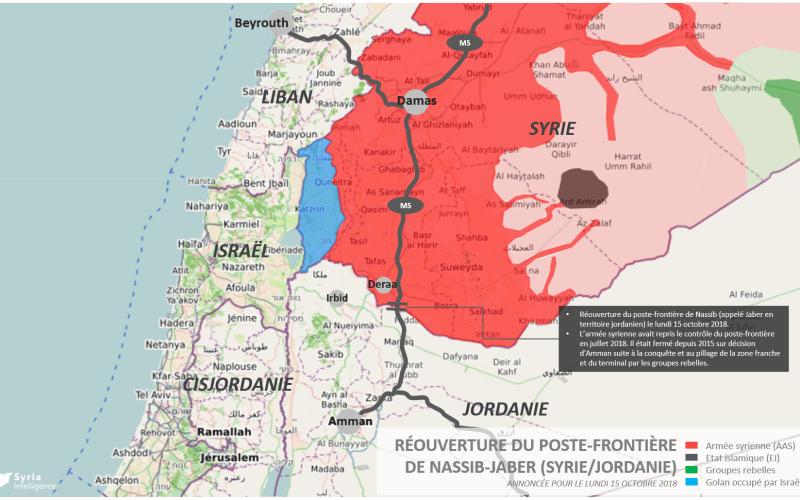Syria Intelligence - 20181014 - Réouverture poste-frontière Nassib Jaber