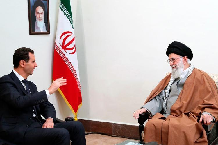 Rencontre entre le président Assad et le Guide de la révolution iranienne Ali Khamenei en Iran (Image SANA)