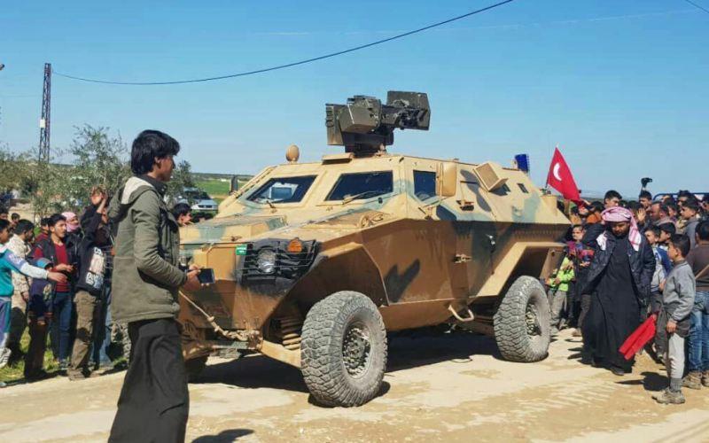 Patrouille de l'armée turque à Tell Touqan, dans le gouvernorat d'Idlib (Image Step News)