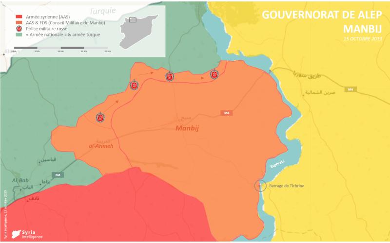 Situation militaire à Manbij : l'armée syrienne prend le contrôle de la région face à l'invasion turque