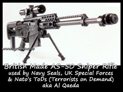 British made AS-50 sniper rifle