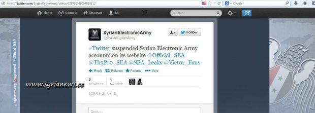 Syrian Electronic Army Tweet