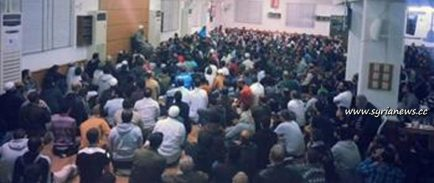 Wahhabi cleric Assir's gathering in his mosque in Sidon