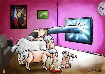 A typical western family following mainstream media