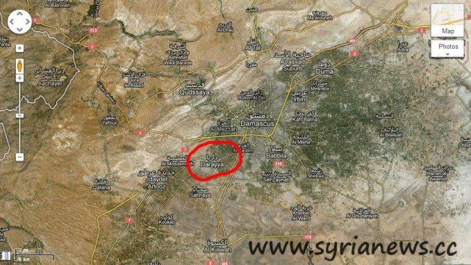 Darayya Map
