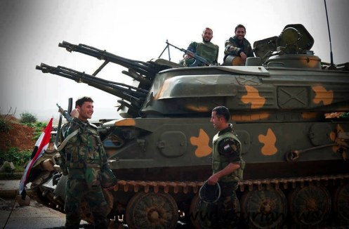 Syrian Arab Army Armored Vehicle