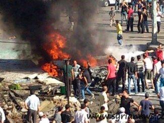 Car explosion in Waar residential neighborhood in Homs killed 6 & injured over 30 civilians