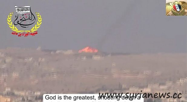Helicopter shot down by terrorists over Nobbol Town, north of Aleppo