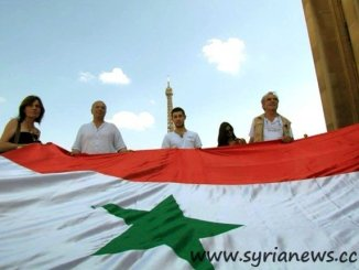 Rally in support of Syria. Paris / France. (Source: SANA)