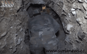 Tunnel of the terrorists in al-Qabun, Syria