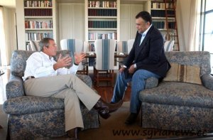 Prince Bandar and George W. Bush have met one day after 9/11.