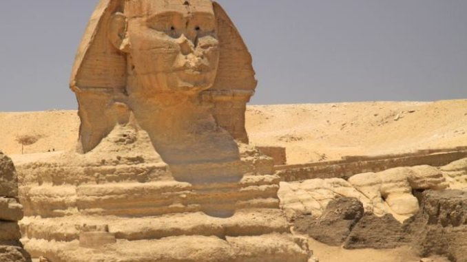 Egypt: The Sphinx at Giza.