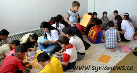 Inside a shelter house provided by the Syrian government in Damascus Countryside