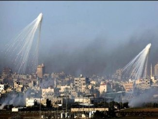 Phosphorus bombs on Gaza.