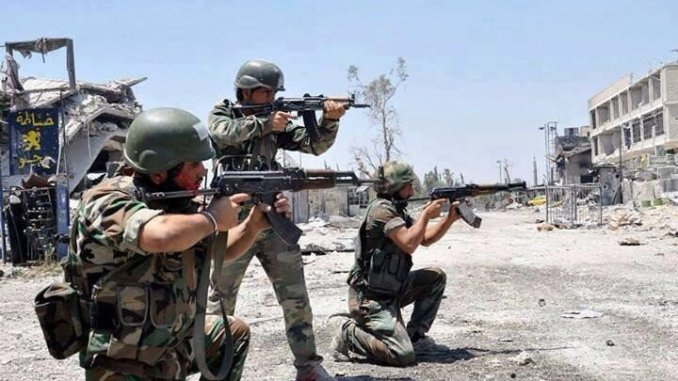 An SAA unit in action