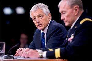 Defense Secretary Chuck Hagel and Chairman Joint Chiefs of Staff General Martin E. Dempsey