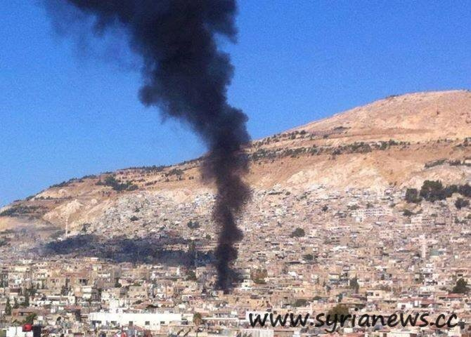 Alqaeda FSA Shells Damascus with mortars on the dawn of Eid Adha