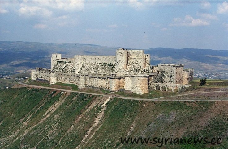 Krak des Chevaliers now occupied by US backed al-Qaeda terrorist groups