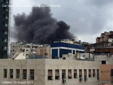 Latakia Shelling by Moderate Rebels