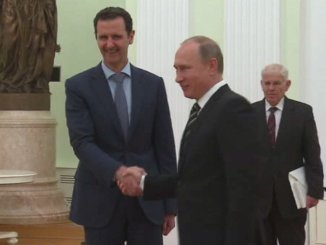 Syrian President Dr. Bashar Assad meeting Russian president Putin in Moscow