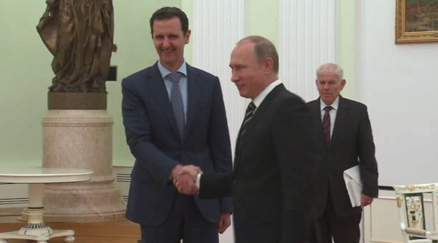 Syrian President Dr. Bashar Assad meeting Russian president Putin in Moscow