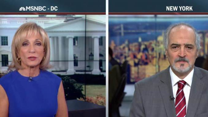 Dr. Bashar Jaafari spoon-feeding logic to the viewers of MSNBC