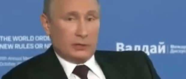 President Vladimir Putin slamming the US regime for its continuous mistakes