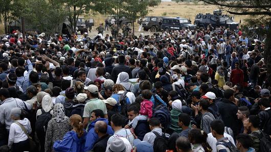 Refugees flooding into European countries