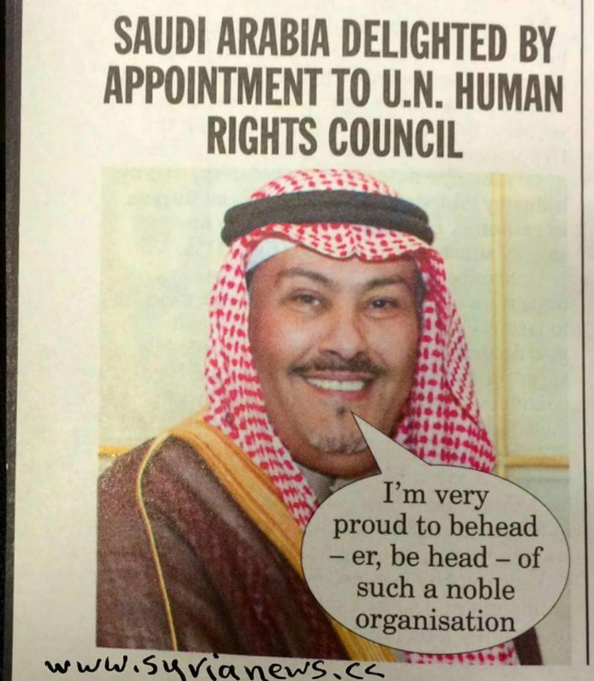 image - Saudis head United Nations Human Rights Council