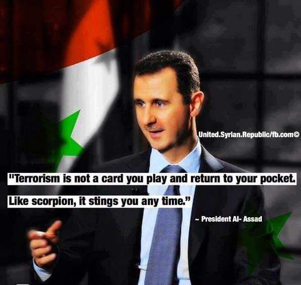image - Assad warning west from supporting terror