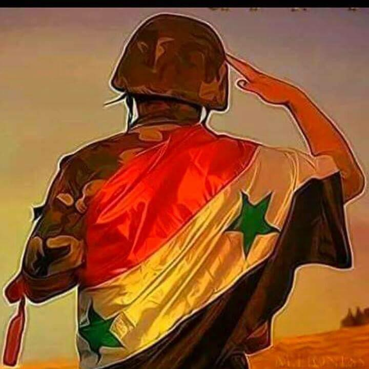 Syrian Arab Army soldier salute