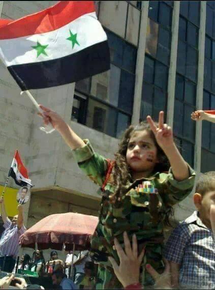 Syrian child in uniform