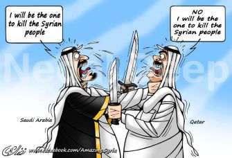 Saud, Qatar fight to kill Syrians