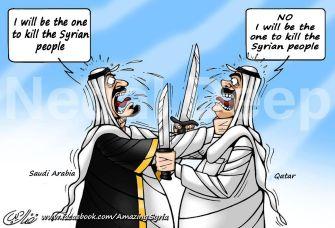 Saud, Qatar fight to kill Syrians