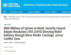 2165 breach of Syrian sovereignty