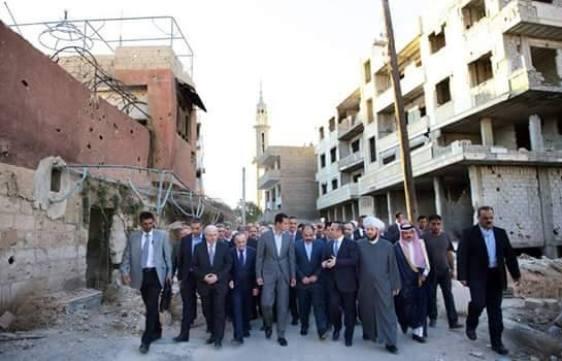 President Assad inspects Darayya