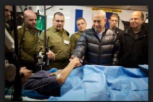 Netanyahu visits al Qaeda terrorists getting free wound care in IDF units in the Occupied Golan