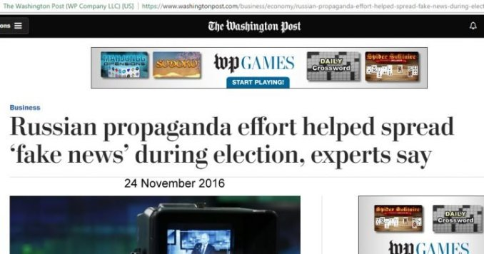 wapo russia faked news