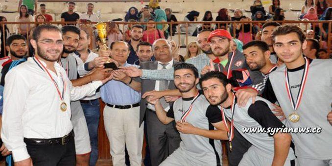 image-Al-Baath University Students Win Syria Universities Championship in Football
