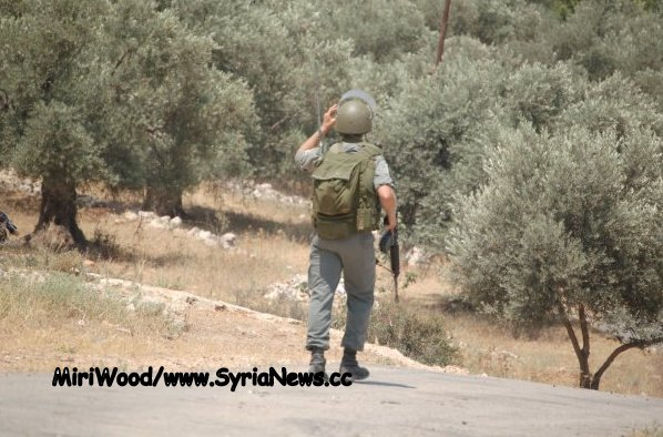 image-This armed Israeli soldier storming through Bil'in does look rather 'fascistic.'