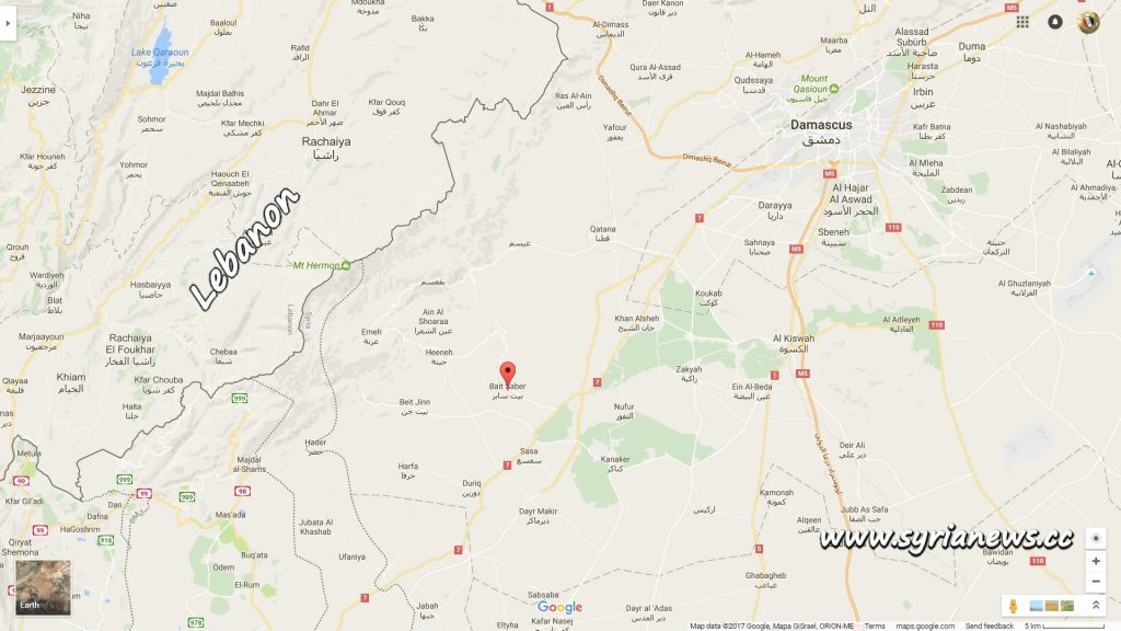 image-Map of Damascus Western Countryside