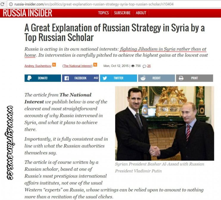 image-Russian Insider Great Explanation-Fight terrorists in Syria better than at home
