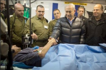 image-Netanyahu visiting terrorists given free medical care in the Syrian Golan, occupied by Israel