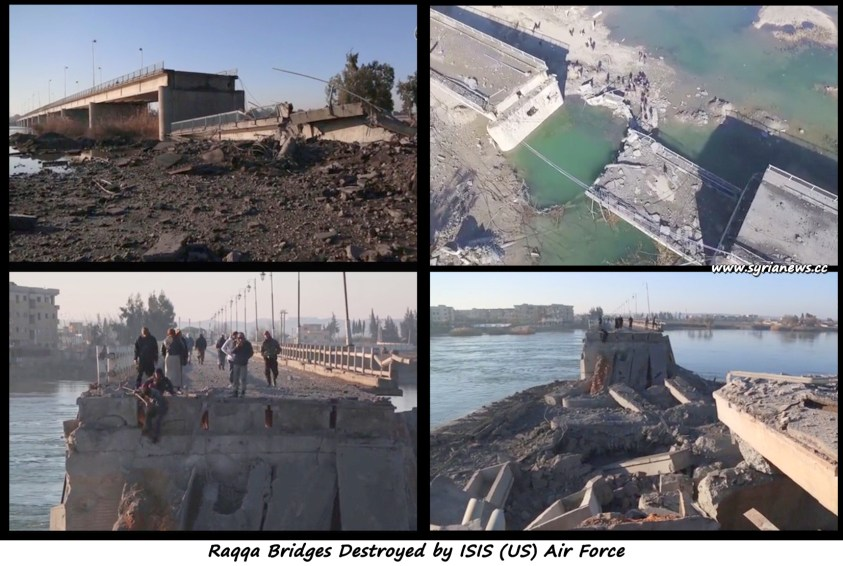 christmas Raqqa Bridges Destroyed by ISIS (US) Air Force
