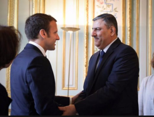 white-helmets Macron meeting traitor of Syria