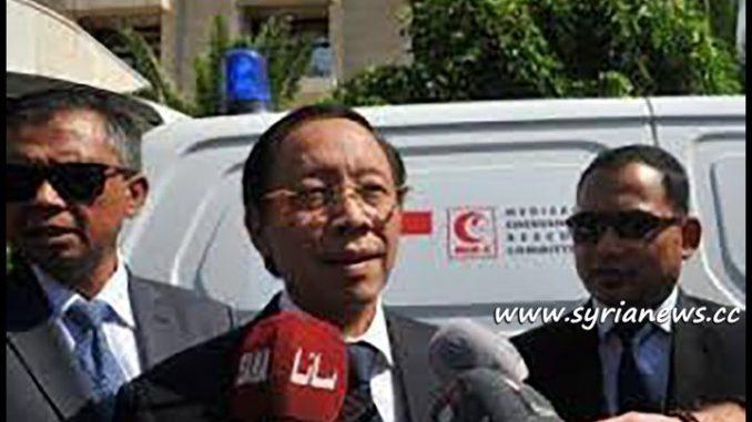 Indonesian Ambassador to Syria Djoko Harjanto Deliver 2 Ambulances to Syrian Red Crescent