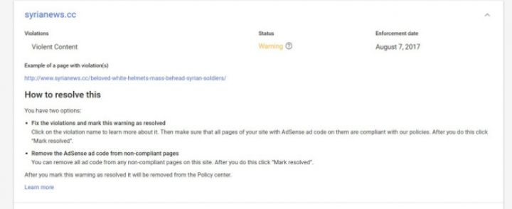 image-google censorship of syrianews.cc