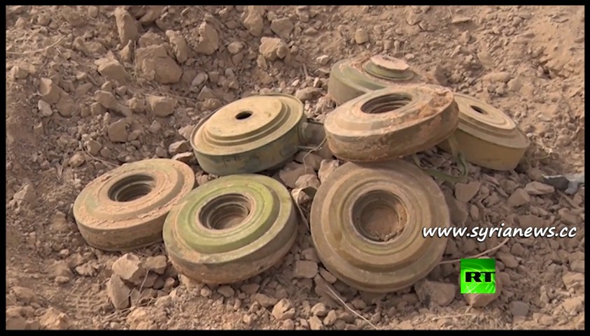 image-IEDs planted by ISIS and found in Deir Ezzor by Russian Sappers